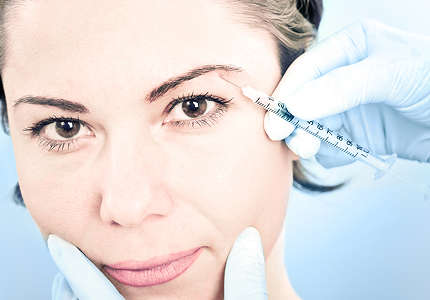 Vistabel therapy for facial wrinkles