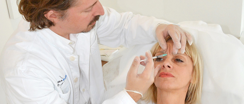 Botox terapija bora na čelu