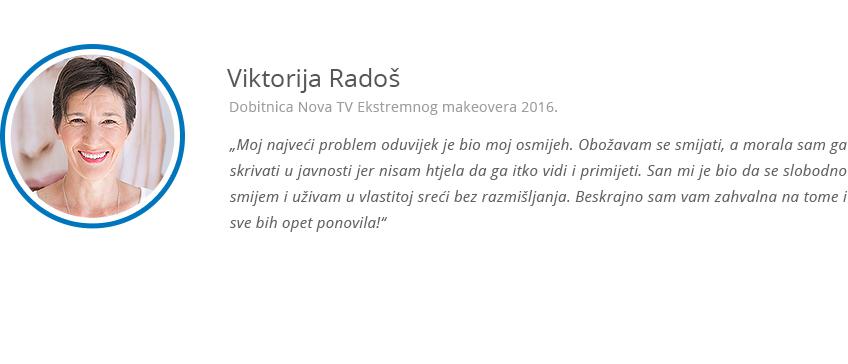 Keramicke krunice - zadovoljna klijentica Viktorija Rados