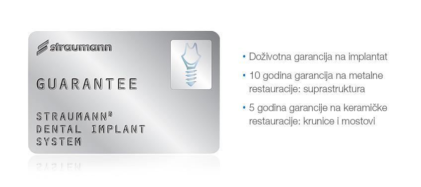 straumann implantat - dozivotna garancija