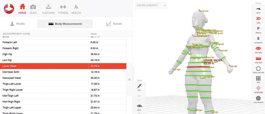 Najbolji plan mršavljenja uz Styku 3D skeniranje obujma tijela