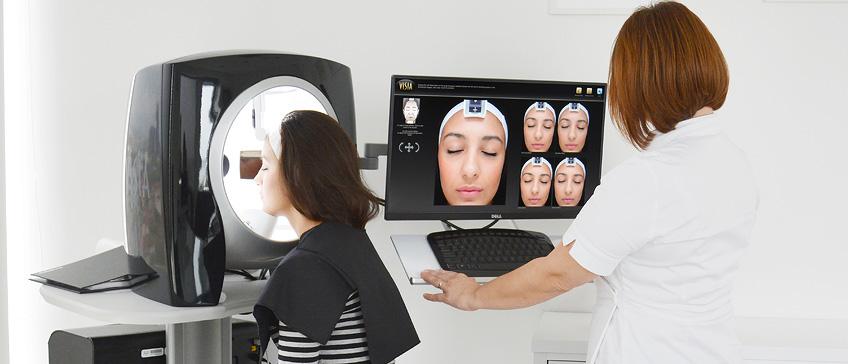 VISIA professional facial skin analysis