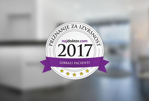 """Zdravniki v Polikliniki Bagatin so prejeli naziv """" Naj zdravnik"""" v letu 2017!"""